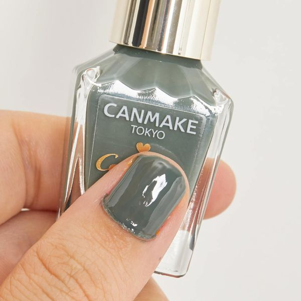 大人っぽい指先へ、CANMAKE(キャンメイク)『カラフルネイルズ N12 アーモンドグリーン』をご紹介に関する画像7
