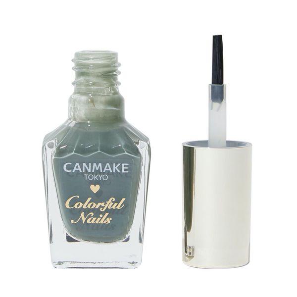 大人っぽい指先へ、CANMAKE(キャンメイク)『カラフルネイルズ N12 アーモンドグリーン』をご紹介に関する画像1