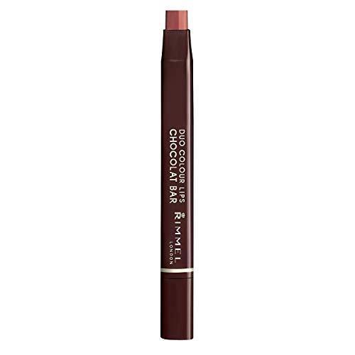 クールで色っぽい唇になれるリンメル『デュオカラーリップス ショコラバー 002 カカオショコラ』をご紹介に関する画像1