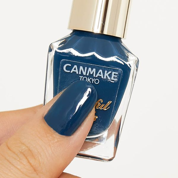 CANMAKE(キャンメイク)『カラフルネイルズ N27 クラシックネイビー』の使用感をレポに関する画像4