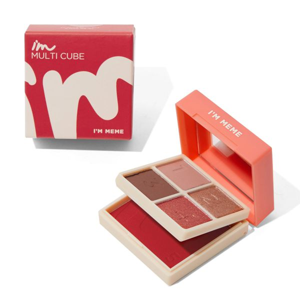 アイムミミ マルチキューブ 002オールアバウトアップルレッド コンパクトさで大人気!色気溢れるレッド系パレットに関する画像6