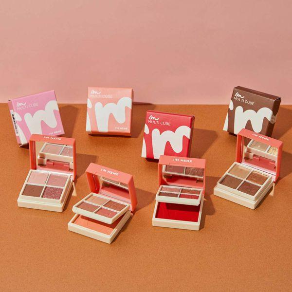 アイムミミ マルチキューブ 002オールアバウトアップルレッド コンパクトさで大人気!色気溢れるレッド系パレットに関する画像1