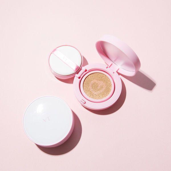 肌色にピンクベースをプラスして、キュートな印象に♡ VT cosmeticsのツートンクッションをご紹介に関する画像1