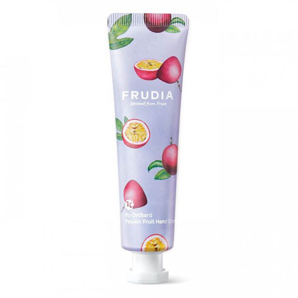 フルーティーな香りのFRUDIA(フルーディア)『マイオーチャードハンドクリーム パッションフルーツ』の使用感をレポに関する画像1