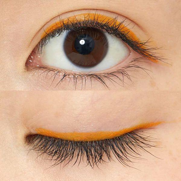 カラバリ豊富な UZU BY FLOWFUSHI(ウズバイフローフシ)『アイオープニングライナー オレンジ』の使用感レポ!に関する画像7