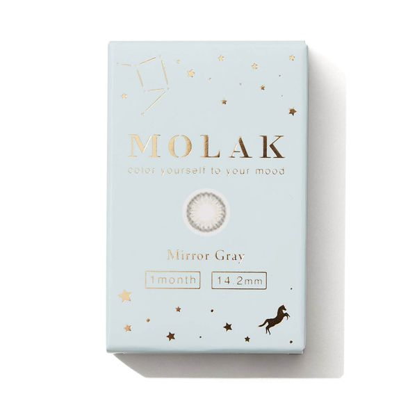 透明感のあるグレーで色素薄い系女子になれるMOLAK『マンスリー ミラーグレー』をご紹介!に関する画像1