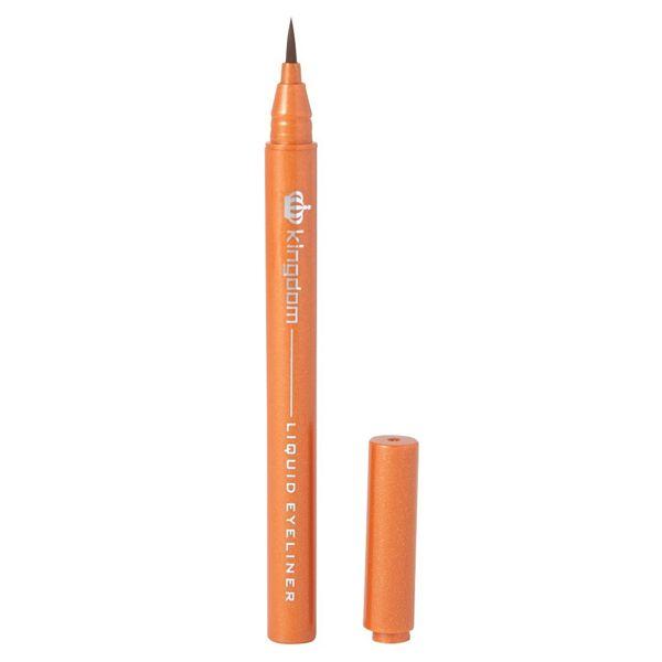 鮮やかな美発色のkingdom(キングダム)『リキッドアイライナーWP オレンジブラウン』をご紹介に関する画像4