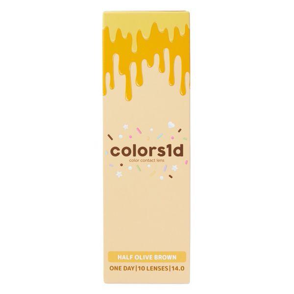colors(カラーズ)『カラーズワンデー ハーフオリーブブラウン』をレポ!に関する画像1