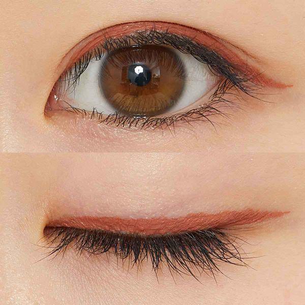 KATE(ケイト)『コンシャスライナーカラー 01 ダスティーオレンジ』の使用感をレポに関する画像10