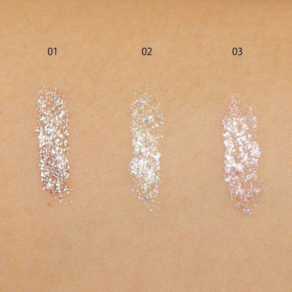 CipiCipi『グリッターイルミネーションライナー  03 ピンクスパークル』の使用感をレポに関する画像17