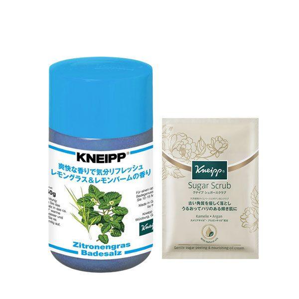 リフレッシュできる香りでパワーを与えてくれる、Kneipp(クナイプ)『クナイプ バスソルト レモングラス&レモンバームの香り』の使用感をレポに関する画像1