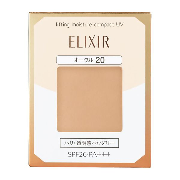 ひと塗りで明るい肌に仕上げる、ELIXIR(エリクシール)『リフティングモイスチャーパクト UV オークル20』の使用感をレポに関する画像1