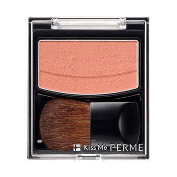 表情に明るさが出るのにナチュラルでクリーンな仕上がりに!キスミーフェルム『ブライトニングチーク 06 オレンジパール』をご紹介に関する画像1