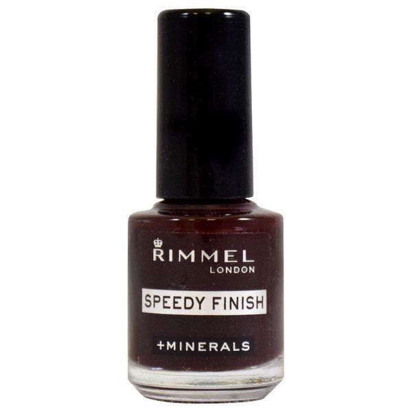 上品でセクシーな深いレッド系で、ショートネイルにもおすすめ!RIMMEL(リンメル)『スピーディ フィニッシュ 413 ブラキッシュレッド』をご紹介に関する画像1