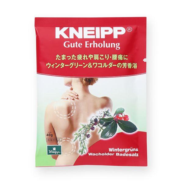 こだわりのハーブ配合のKneipp(クナイプ)『クナイプ グーテエアホールング バスソルト ウィンターグリーン&ワコルダーの香り』の使用感をレポに関する画像1