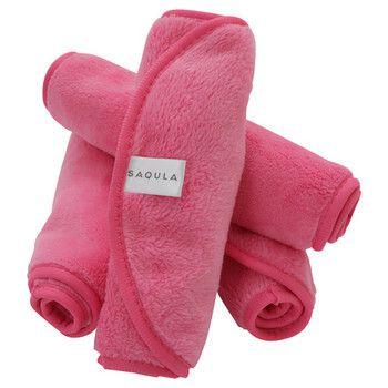水でメイクが落ちる! プロも認めたSAQULA(サキューラ)『SAQULA クレンジングタオル ピンク』をレポに関する画像1