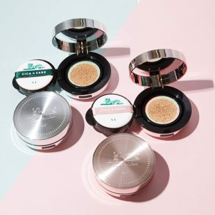 VT cosmetics シカレッドネスモイスチャーカバー クッション 21号 ライトベージュ 14g の画像 1