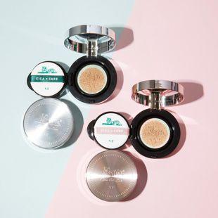 VT cosmetics シカレッドネスカバークッション 21番 ライトベージュ 本品14g+リフィル14g の画像 2
