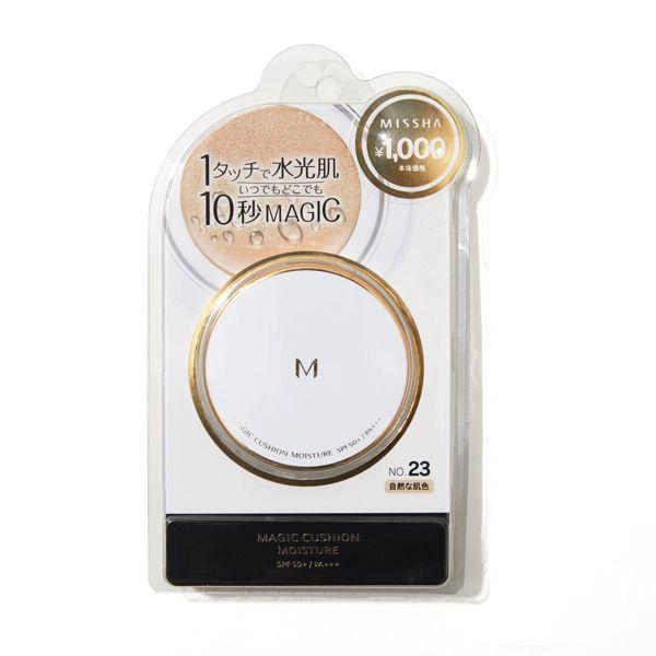 ミシャのミシャ M クッション ファンデーション No.23 自然な肌色 モイスチャー 15g SPF50+ PA+++に関する画像2
