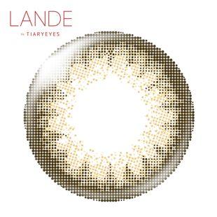 LANDE ランデ by ティアリーアイズ ワンデー 10枚/箱 (度なし)  カーキ の画像 3