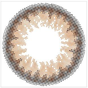 エンジェルカラー バンビシリーズナチュラル ワンデー  10枚/箱 (度なし) ナチュラルブラウン の画像 1