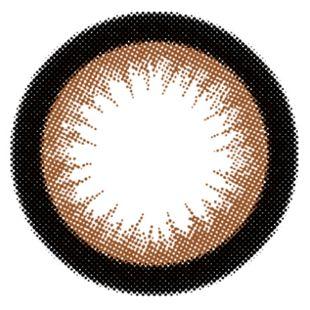 エンジェルカラー バンビシリーズワンデー 10枚/箱 (度なし) アーモンド の画像 1