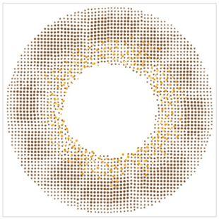 エンジェルカラー バンビシリーズワンデー 10枚/箱 (度なし) ヴィンテージヘーゼル の画像 1