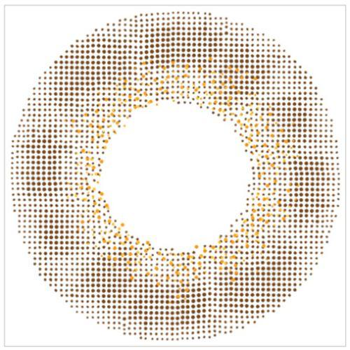 エンジェルカラーのバンビシリーズワンデー 10枚/箱 (度なし) ヴィンテージヘーゼルに関する画像2