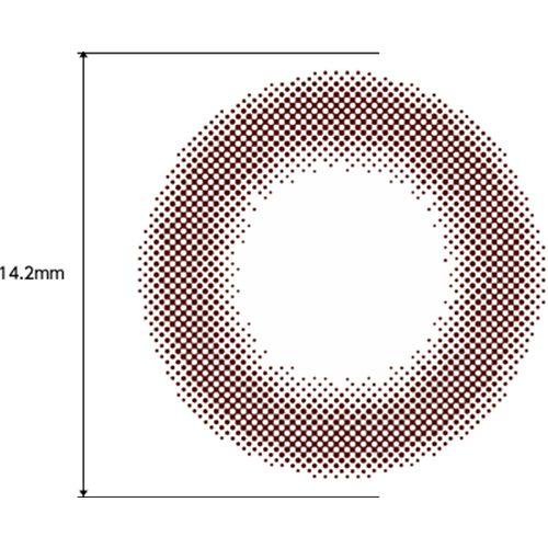 フェリアモのフェリアモ ワンデー 10枚/箱 (度なし) シアーブラウンに関する画像2