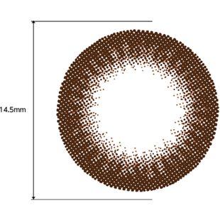 フェリアモ フェリアモ ワンデー 10枚/箱(度なし)セット シャイニーブラウン の画像 2