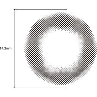 フェリアモ フェリアモ ワンデー 10枚/箱(度なし)セット シアーブラック の画像 2