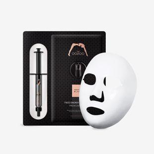 THE OOZOO フェイスエナジーショットマスクプレミアムブラック マスク30ml+アンプル2.8ml の画像 1