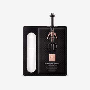 THE OOZOO フェイスエナジーショットマスクプレミアムブラック マスク30ml+アンプル2.8ml の画像 2