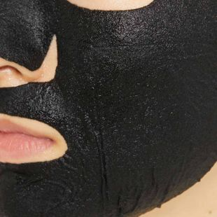 オルフェス アクアモイスチャーシートマスク ピュアブラック 1枚入り の画像 1