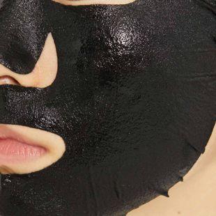オルフェス アクアモイスチャーシートマスク トゥインクルブラック 1枚入り の画像 1