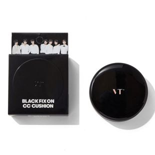 VT cosmetics ブラックフィックスオンCCクッション 21 アイボリー 12g SPF22 PA++ の画像 3