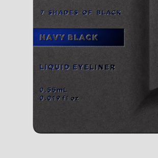 UZU BY FLOWFUSHI アイオープニングライナー 7 SHADES OF BLACK ネイビーブラック 0.55ml の画像 2