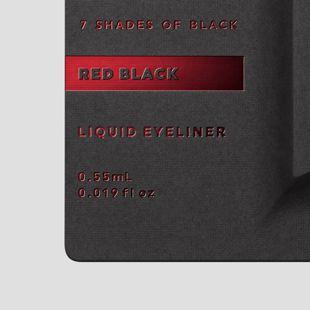 UZU BY FLOWFUSHI アイオープニングライナー 7 SHADES OF BLACK レッドブラック 0.55ml の画像 2