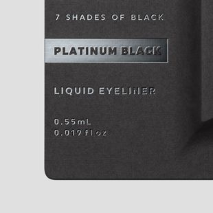 UZU BY FLOWFUSHI アイオープニングライナー 7 SHADES OF BLACK プラチナムブラック 0.55ml の画像 3