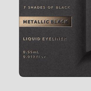 UZU BY FLOWFUSHI アイオープニングライナー 7 SHADES OF BLACK メタリックブラック 0.55ml の画像 2