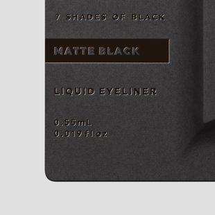 UZU BY FLOWFUSHI アイオープニングライナー 7 SHADES OF BLACK マットブラック 0.55ml の画像 2