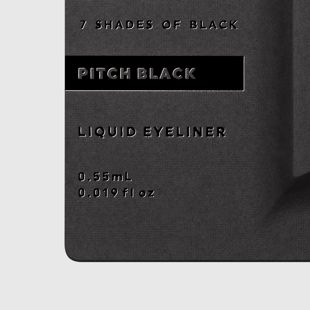 UZU BY FLOWFUSHI アイオープニングライナー 7 SHADES OF BLACK ピッチブラック 0.55ml の画像 2