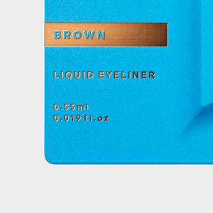 UZU BY FLOWFUSHI アイオープニングライナー ブラウン 0.55ml の画像 2