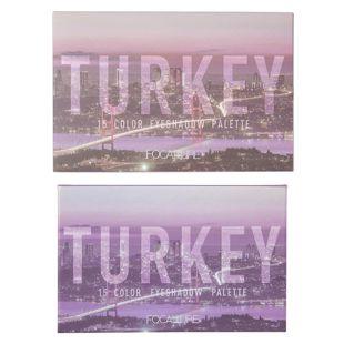 FOCALLURE GO TRAVEL 15色アイシャドウパレット #04 トルコ の画像 3
