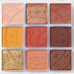 ZEESEA クォーツ 9色アイシャドウパレット J13 ハチミツパンプキン 10g の画像 1