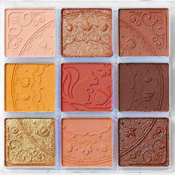 ZEESEAのクォーツ 9色アイシャドウパレット J13 ハチミツパンプキン 10gに関する画像2