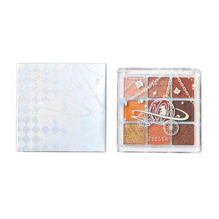 ZEESEA クォーツ 9色アイシャドウパレット J13 ハチミツパンプキン 10g の画像 2