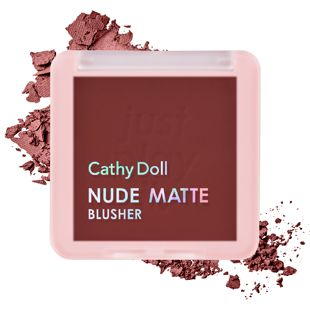Cathy Doll ヌードマットブラッシャー  06 Maroon Like 6g の画像 2