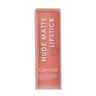 Cathy Doll ヌードマットリップスティック 02 Easy Peach 3.5g の画像 2