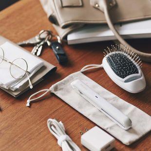 FESTINO USB スタイリング ヘアアイロン SMHB-018-PK ピンク 約60g の画像 1